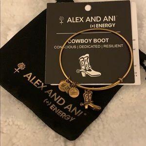 Alex and Ani Cowboy Boot Bracelet